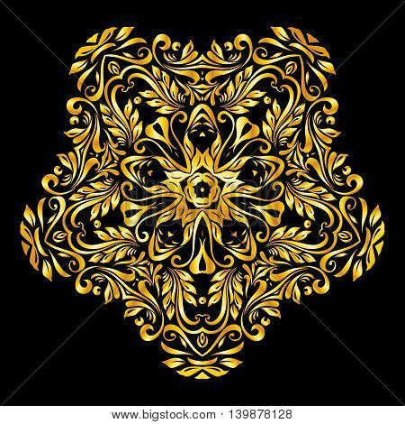 Vector gold elements on a black background