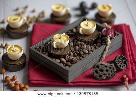 Candles In The Shape Of Coffee Cups