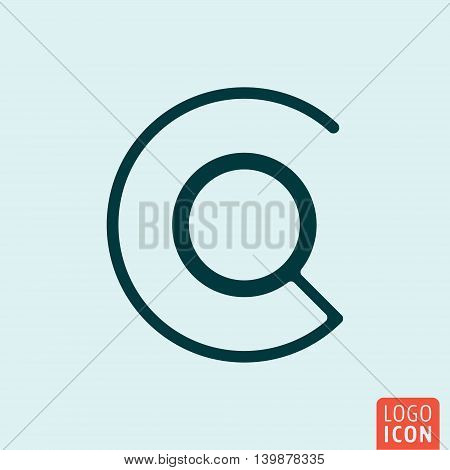 Search loupe icon. Magnifying glass symbol. Vector illustration