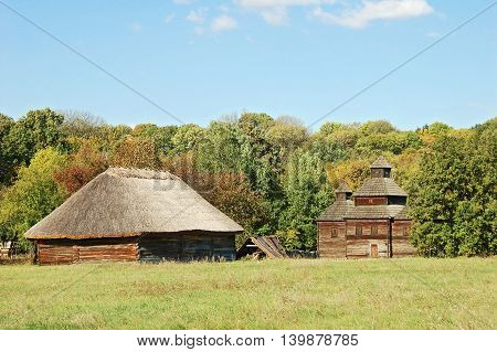 Ancient Hut And Church