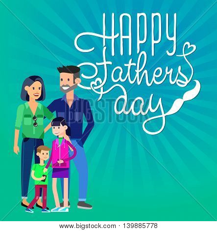 Happy fathers day background. Calligraphy lettering illustration