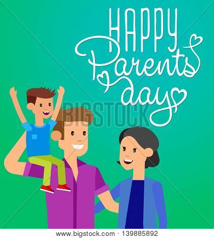 Happy Parents day background. Calligraphy lettering background