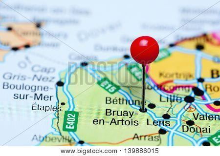 Bruay-en-Artois pinned on a map of France