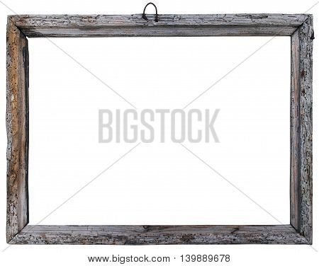 vintage old frame on a white background