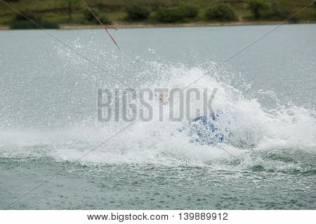 Wakeboard Athlete Fell Into The Water