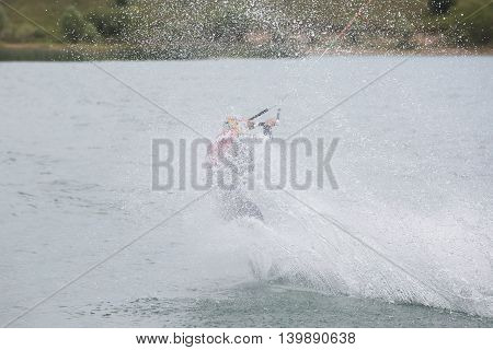 Wakeboard Athlete On The Board