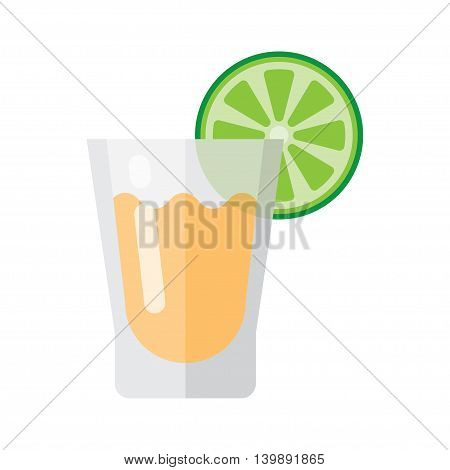 tequila and lime icon Vector Illustration on the white background