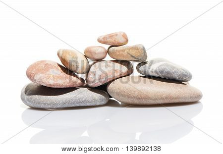 Japanese Zen Stone Garden Isolated On White