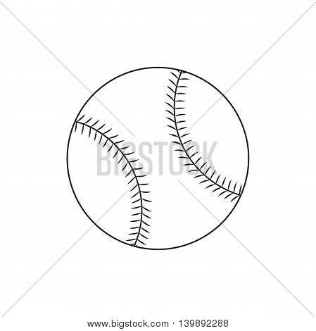 Line icon baseball ball. Sport item. Vector illustration.