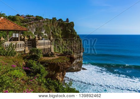 Uluwatu temple in Bali Indonesia - nature and architecture background