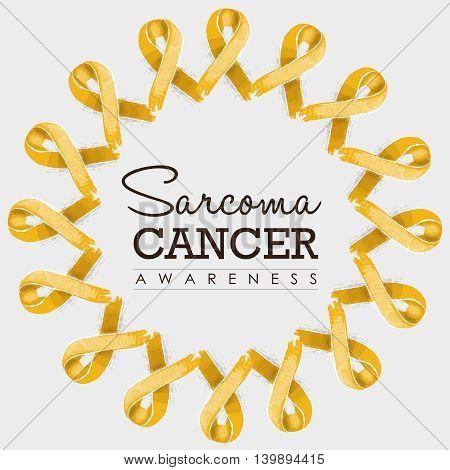 Sarcoma Cancer Awareness Ribbon Design With Text