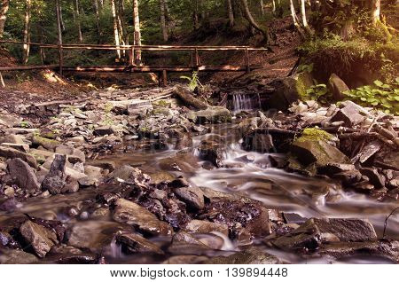 Pylypets River Near The Shypit Waterfall (ukraine 2016)