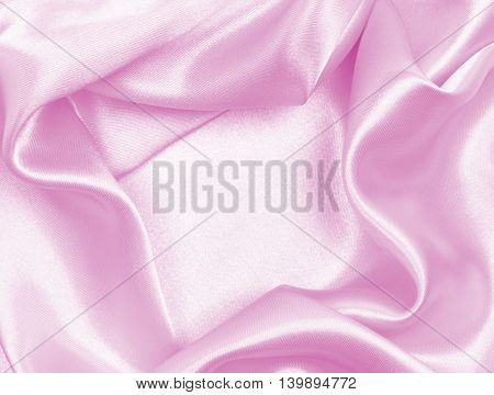 Smooth Pink Silk As Background