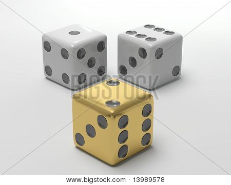 Three Rolling dices