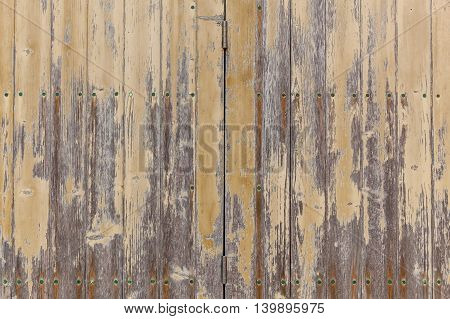 Wooden boards with worn paintWooden textureAbstract architecture backdrop background block