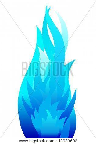 Inferno Feuer Vektor Hintergrund für den Design-Einsatz