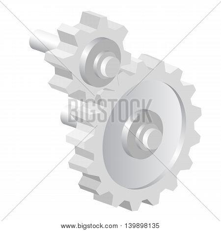 Industrial icon big steel gear. vector illustration