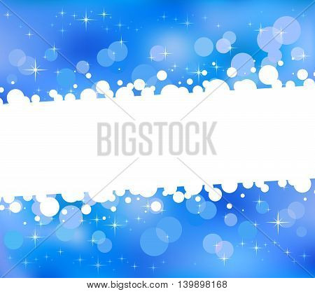 Blue abstract bokeh background a field for the text. Vector illustration