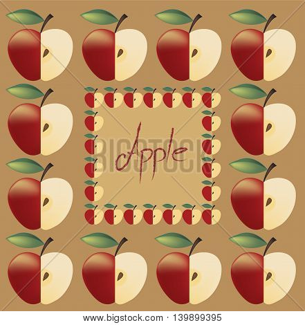 Pattern Of Apples