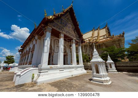 Temple of Wat Palelai in Suaphanburi Thailand