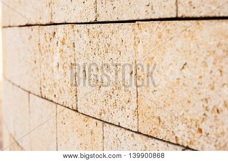 Yellow Brickwork, Macro.