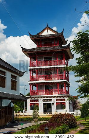 Chinese Building To See Suphanburi View