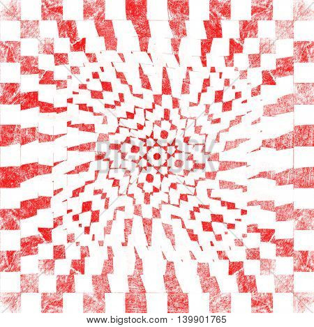 grunge red checkered, abstract  background