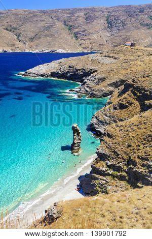Turquoise beautiful beaches of Greece - Andros, Tis Grias To Pidima