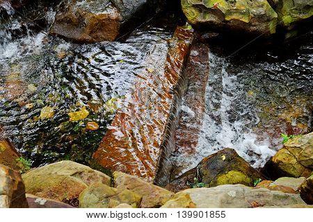 Waterfall at Dallas arboretum short exposure selective focus