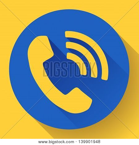incoming Phone Call vector icon messenger symbol