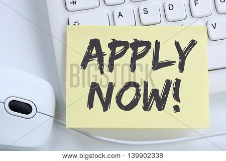Apply Now Jobs, Job Working Recruitment Employees Business Concept Office