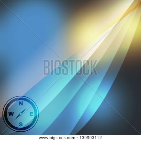 compass icon  on abstract background
