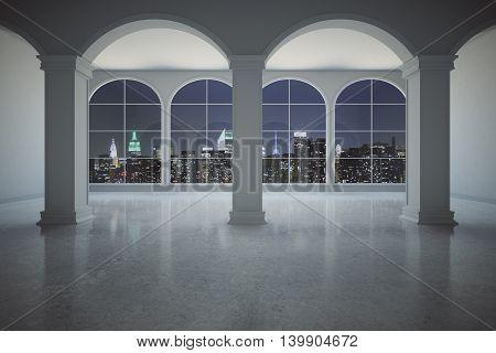 Classic Interior At Night