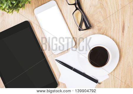 Technology On Office Desktop