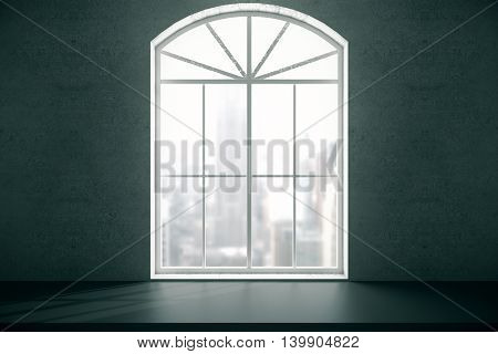 Window With Blurry City View