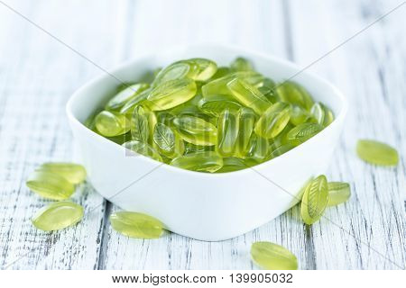 Portion Of Gummy Candy (with Lime Taste)