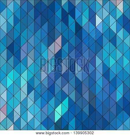 Geometric elegant blue geometry sapphire diamond triangles pattern. Ice cubes structure