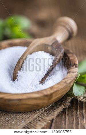 Stevia (as Granular; Selective Focus)