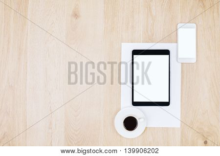 Smartphone, Tablet And Coffee