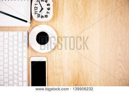 Keyboard, Phone And Clock