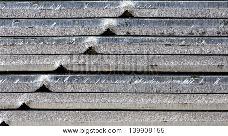 metal sheets stacked pile , close-up background