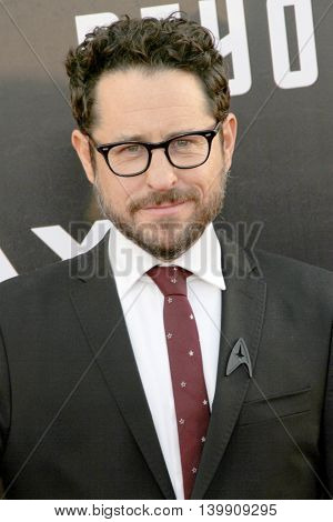 J. J. Abrams attends at the Star TreK Beyond  premiere during Comic Con on July 20, 2016 at the Embarcadero Marina Park South in San Diego, CA.
