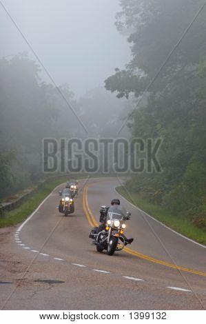 Bikers In A Fog