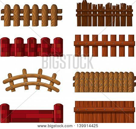 collection of fence cartoon for you design