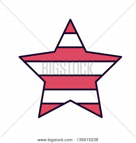 american star isolated icon design, vector illustration  graphic