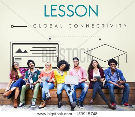 Lesson Global Connectivity Student Graphic Concept