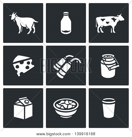 Goat, Milk, Cow, Cheese, Milking, Machine, Cans, Product, Plate, Glass.