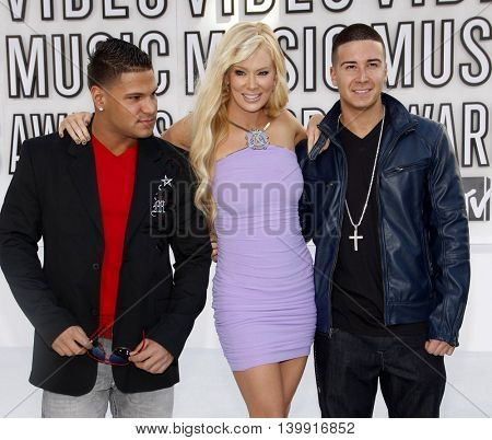Ronnie Ortiz-Magro, Jenna Jameson and Vinny Guadagnino at the 2010 MTV Video Music Awards held at the Nokia Theatre L.A. Live in Los Angeles, USA on September 12, 2010.