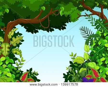 beauty landscape with forest background for you design