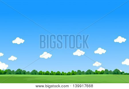 beauty landscape background with blue sky for you design